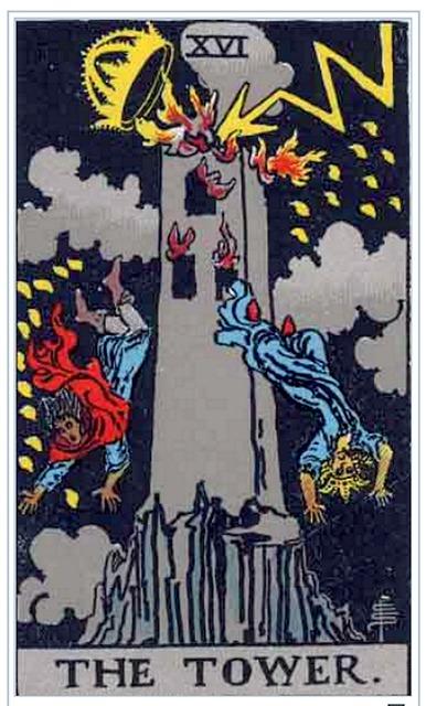タロットカード 16. 塔