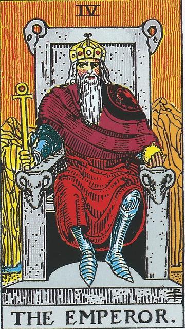 タロットカード 4. 皇帝