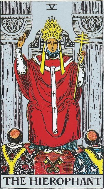 タロットカード 5. 法王
